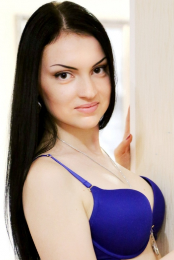 Ukrainian girl Evgeniya,22 years old with brown eyes and black hair.