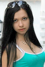 Ukrainian girl Anna,23 years old with black eyes and black hair.
