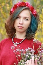 Ukrainian girl Diana,20 years old with green eyes and dark brown hair.