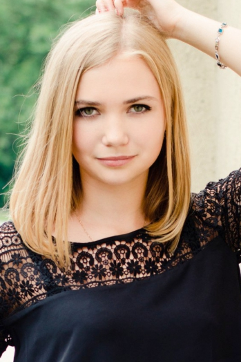 Ukrainian girl Alina,21 years old with green eyes and blonde hair.
