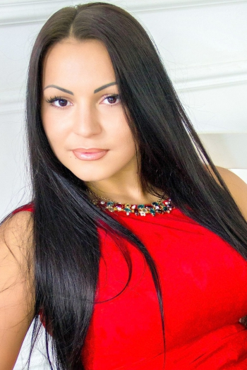 Ukrainian girl Anastasia,27 years old with brown eyes and black hair.