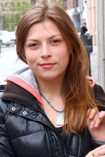 Ukrainian girl Yana,22 years old with  eyes and  hair.