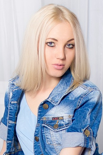 Ukrainian girl Marina,23 years old with green eyes and blonde hair.