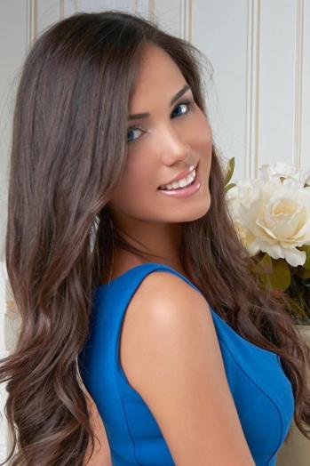 Ukrainian girl Kristina,26 years old with blue eyes and dark brown hair.