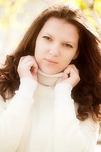 Ukrainian girl Anastasia,25 years old with brown eyes and dark brown hair.