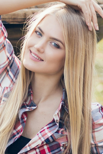 Ukrainian girl Dariya,26 years old with blue eyes and blonde hair.