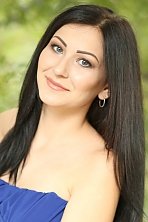 Ukrainian girl Alesya,20 years old with blue eyes and black hair.