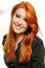 Ukrainian girl Maria,23 years old with green eyes and red hair.