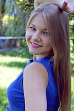 Ukrainian girl Yana,19 years old with grey eyes and blonde hair.
