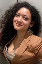 Ukrainian girl Anastasia,25 years old with brown eyes and black hair.