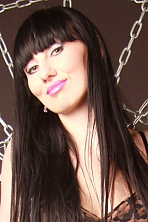 Ukrainian girl Anastasya,29 years old with green eyes and black hair.