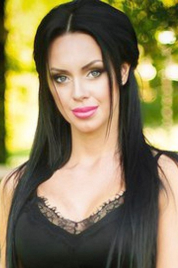 Ukrainian girl Ekaterina,22 years old with green eyes and black hair.