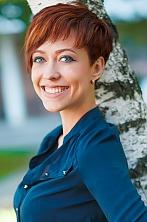 Ukrainian girl Konstantsa ,33 years old with blue eyes and dark brown hair.