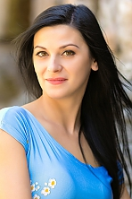 Ukrainian girl Evgeniya,36 years old with brown eyes and black hair.