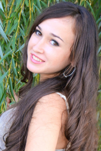 Ukrainian girl Olesya,28 years old with brown eyes and dark brown hair.