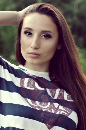 girl Irina, years old with  eyes and  hair.