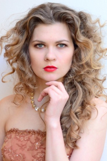 Russian girl Ekaterina,26 years old with blue eyes and blonde hair.