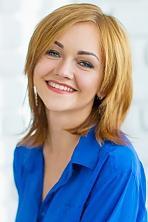Ukrainian girl Svetlana,22 years old with blue eyes and light brown hair.
