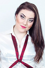 Ukrainian girl Valeria,23 years old with green eyes and dark brown hair.