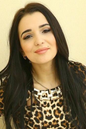 Ukrainian girl Anastasiya,22 years old with brown eyes and black hair.