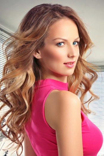 Ukrainian girl Liana,23 years old with green eyes and light brown hair.