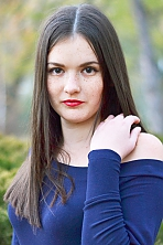 Ukrainian girl Yuliya,19 years old with grey eyes and black hair.