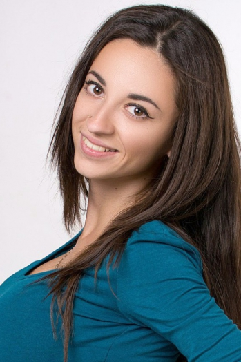 Ukrainian girl Irina,23 years old with brown eyes and black hair.
