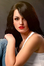 Ukrainian girl Julia,24 years old with green eyes and black hair.