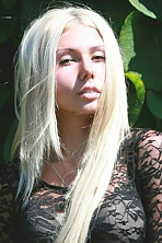 Ukrainian girl Alyona,19 years old with brown eyes and blonde hair.