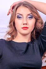 Ukrainian girl Kristina,22 years old with blue eyes and light brown hair.