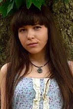 Ukrainian girl Anastasia ,22 years old with brown eyes and dark brown hair.