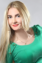 Ukrainian girl Nadezhda,22 years old with blue eyes and blonde hair.
