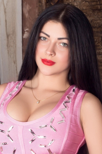 Ukrainian girl Nadezhda,26 years old with green eyes and black hair.