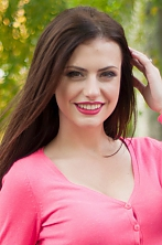 Ukrainian girl Maria,20 years old with brown eyes and dark brown hair.