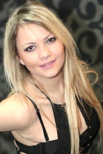 Ukrainian girl Christina,26 years old with brown eyes and blonde hair.