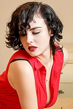Ukrainian girl Maria,24 years old with green eyes and black hair.