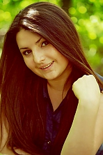 Russian girl Zarina,22 years old with brown eyes and dark brown hair.