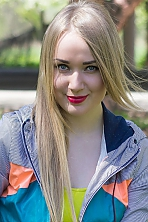 Ukrainian girl Tatyana,28 years old with grey eyes and blonde hair.