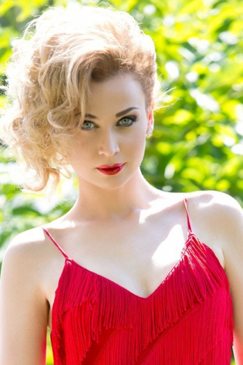 Ukrainian girl Alisa,25 years old with blue eyes and light brown hair.