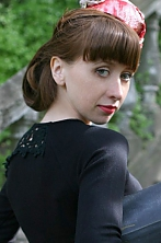 Ukrainian girl Nadezhda,30 years old with green eyes and red hair.