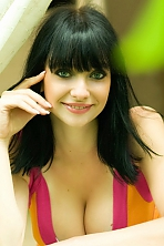 Ukrainian girl Marina,27 years old with blue eyes and black hair.