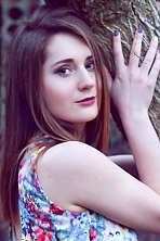 Ukrainian girl Yana,19 years old with blue eyes and light brown hair.