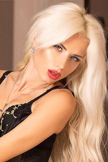 Ukrainian girl Nastja,24 years old with blue eyes and blonde hair.