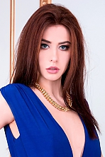 Ukrainian girl Anna,24 years old with blue eyes and black hair.