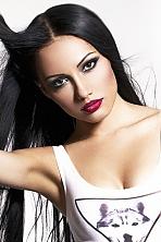 Ukrainian girl Irina,26 years old with brown eyes and black hair.