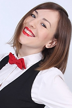 Ukrainian girl Marina,27 years old with blue eyes and light brown hair.