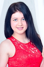 Ukrainian girl Aleksandra,20 years old with blue eyes and black hair.