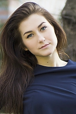 Ukrainian girl Anna ,19 years old with blue eyes and dark brown hair.