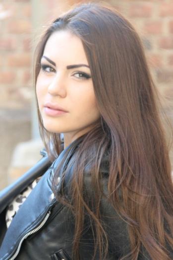 Ukrainian girl Irina,19 years old with brown eyes and dark brown hair.