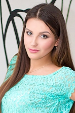 Ukrainian girl Anastasia,20 years old with green eyes and dark brown hair.